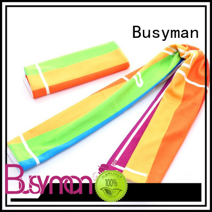 Busyman microfiber sport towel ideal for concert