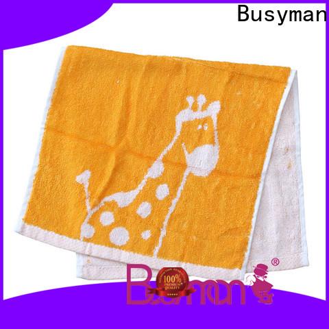 Busyman jacquard towels