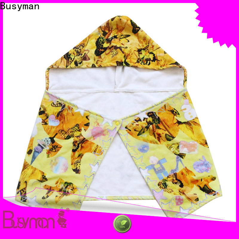 Busyman good water absorption custom hooded towel widely employed for hotel