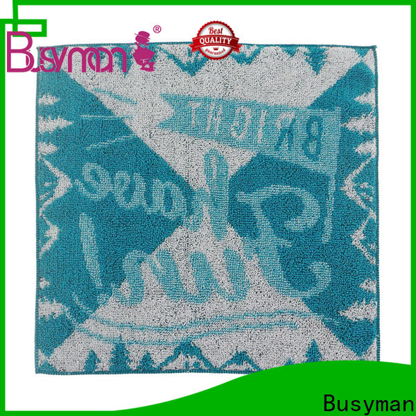 Busyman jacquard towels widely employed for beauty salon
