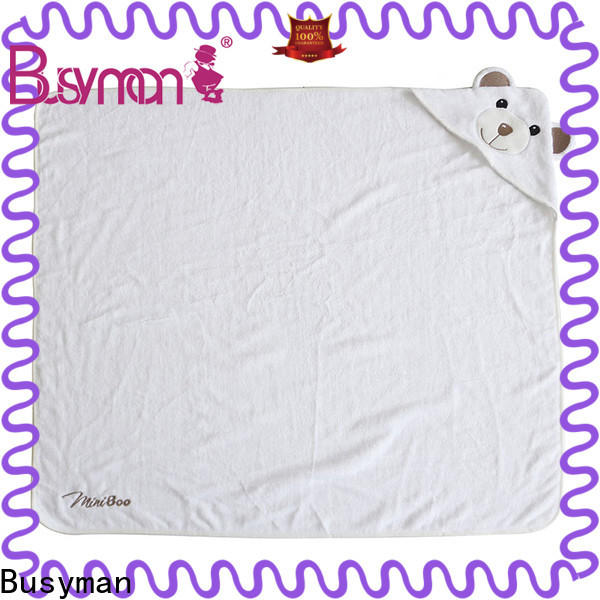Busyman hot selling bamboo hooded towel great for baby use