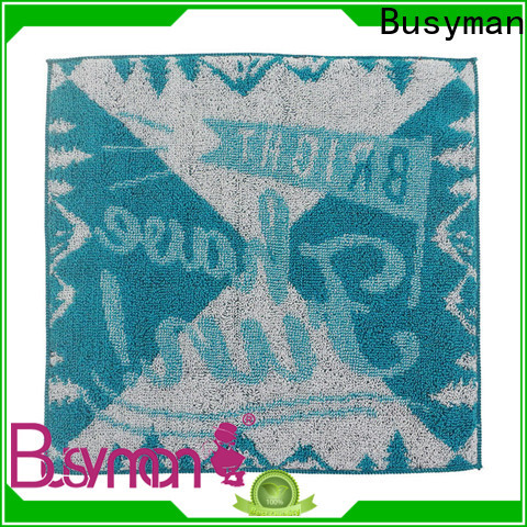 Busyman high quality fabric jacquard hand towel needed for