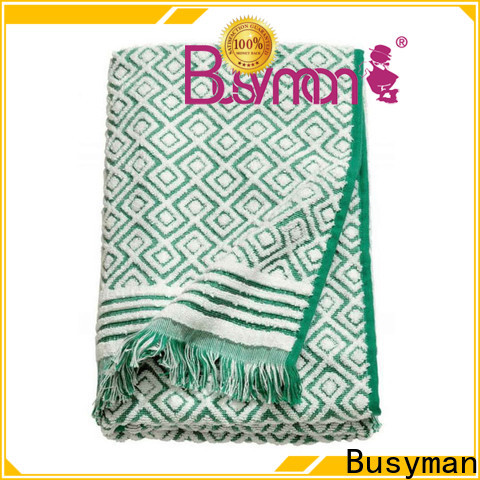 Busyman jacquard towels widely used for hotel
