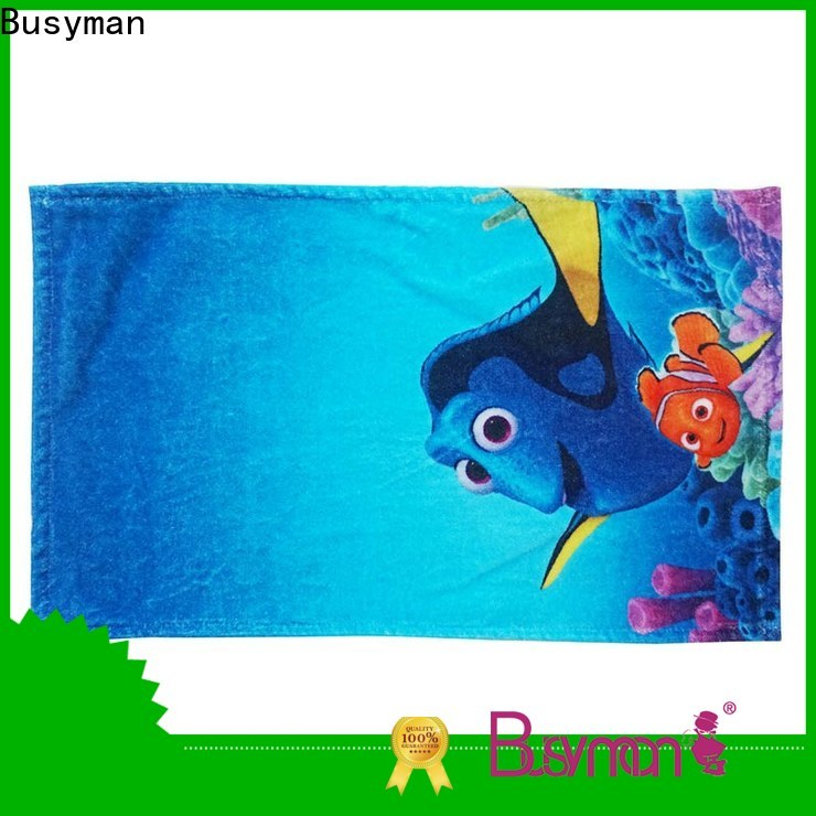 Busyman quick dry custom printed towels great for kids use