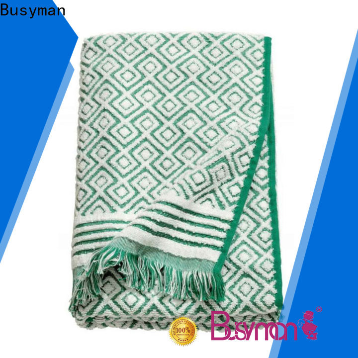 ultra-absorbency jacquard beach towel widely applied for beauty salon