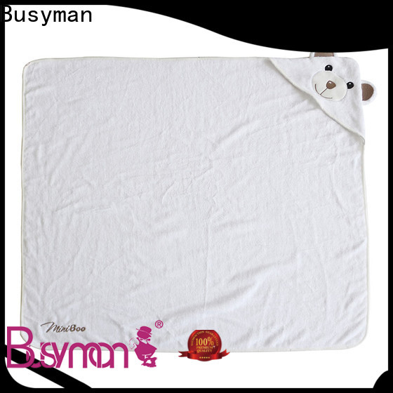 Busyman soft bamboo hooded towel ideal for baby use