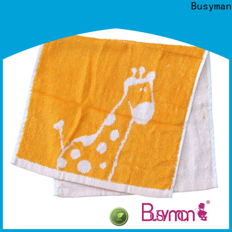 Busyman high quality fabric jacquard hand towel very useful for hotel use