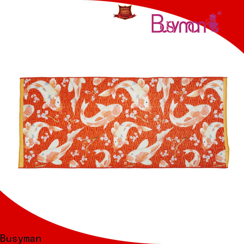 Busyman custom design cotton towel great for gift