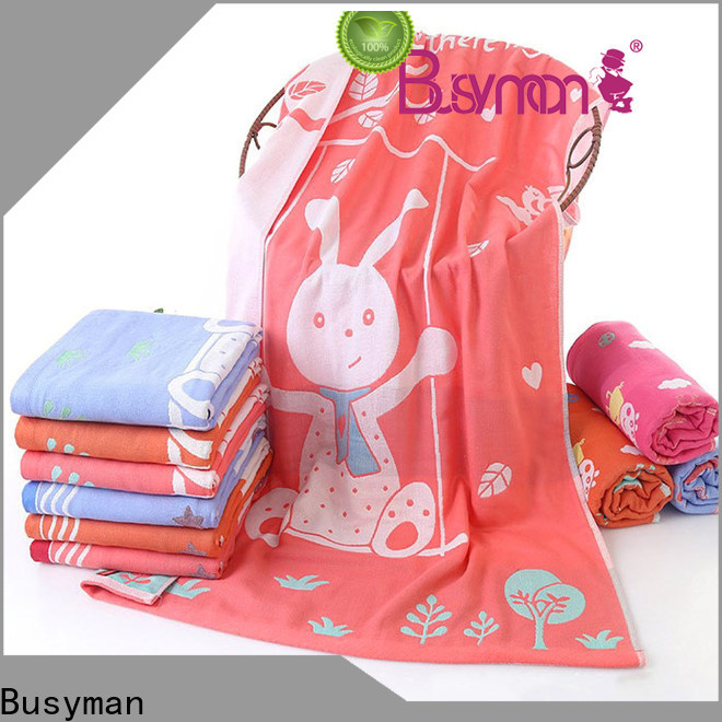 Busyman solid color jacquard jacquard towels perfect for gift
