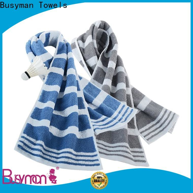 Busyman Towels jacquard hand towels suppliers for sports