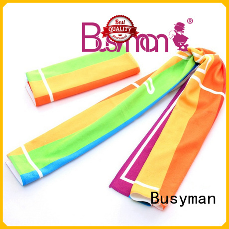 Busyman microfiber gym towel ideal for concert
