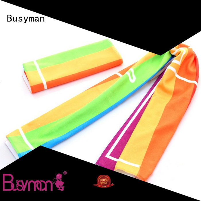 Busyman wholesale microfiber sport towel nice user experience for wedding