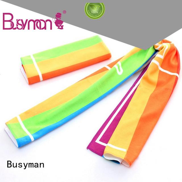 Busyman good quality microfiber sport towel nice user experience for gym