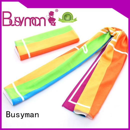 Busyman microfiber gym towel nice user experience for