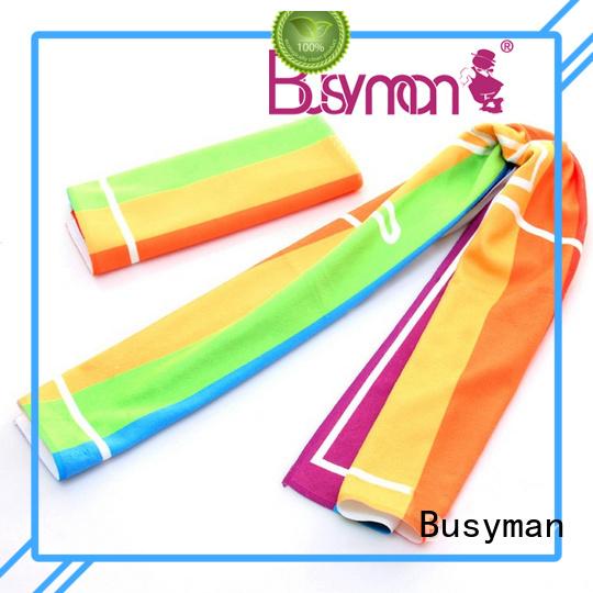 Busyman microfiber gym towel ideal for