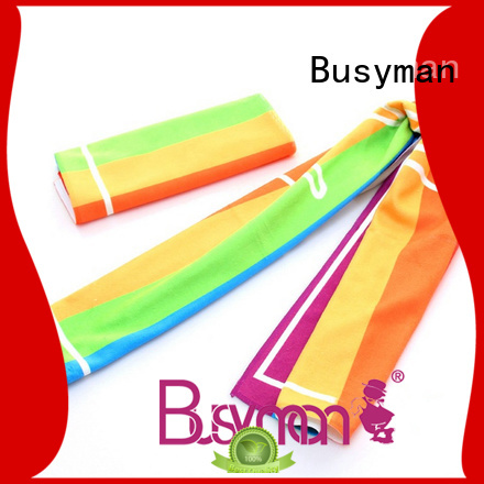 Busyman wholesale microfibre sports towel nice user experience for