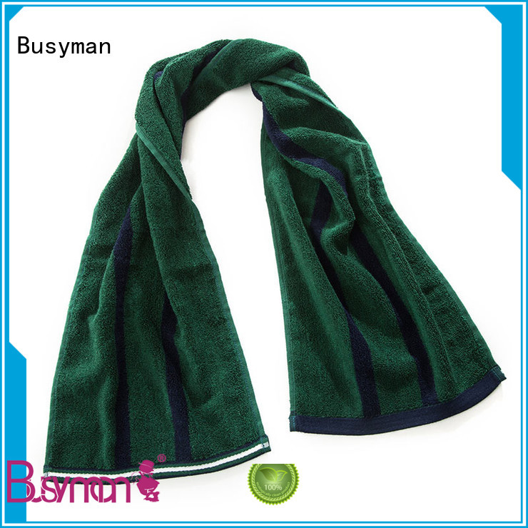 Busyman bamboo gym towel widely applied for sports