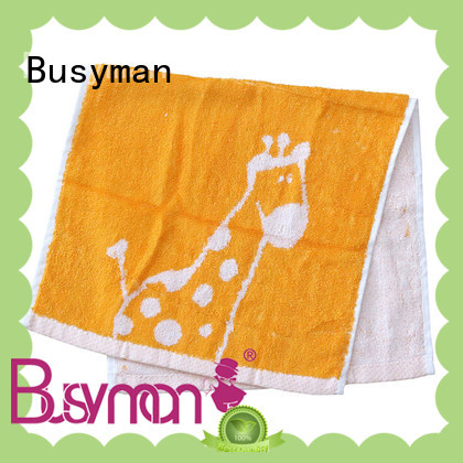 Busyman high quality fabric jacquard towels very useful for home use