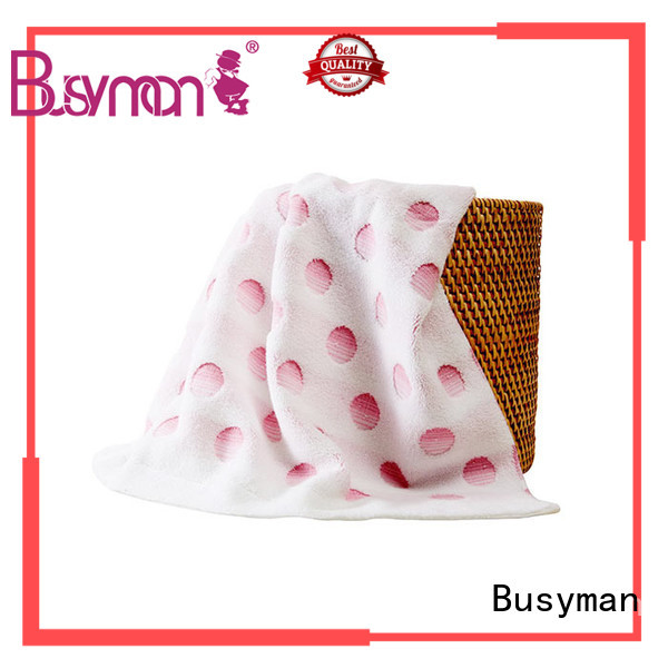 Busyman solid color jacquard personalized towels satisfying for
