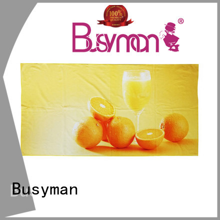 Busyman beach towel custom print trip