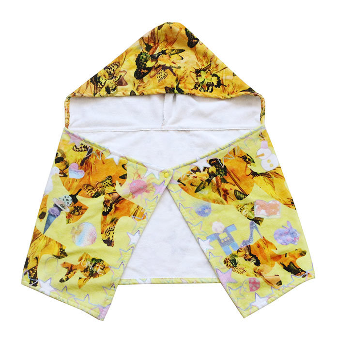 High GSM 100% Cotton Digital Printed Custom Baby Hooded Towel