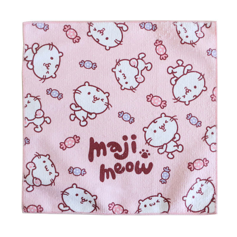 Pink Kawaii Cats Microfiber Kids Animal Hand Towel Manufacturer