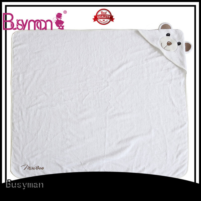 Busyman soft hooded bath towel perfect for baby