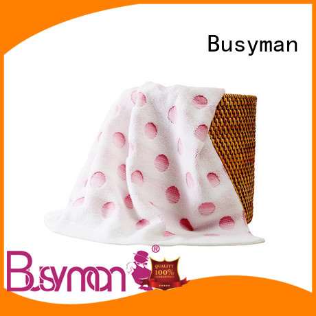 Busyman comfortable jacquard towels design ideal for