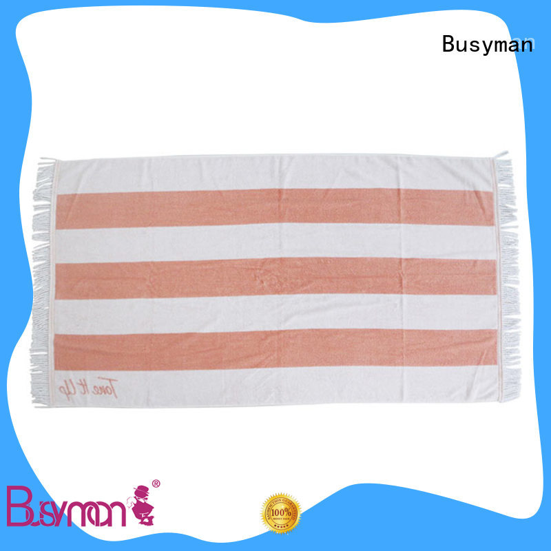Busyman beach towels with logo widely employed for picnic