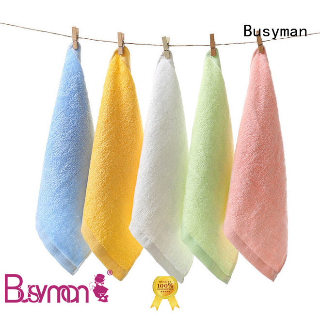 Busyman soft towel manufacturer nice user experience for Baby washing face or hands
