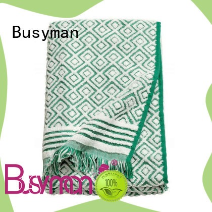 Busyman jacquard beach towel widely applied for gift