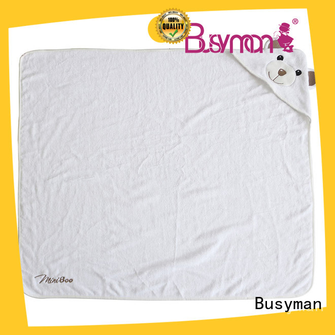 Busyman safe bamboo hooded towel perfect for baby