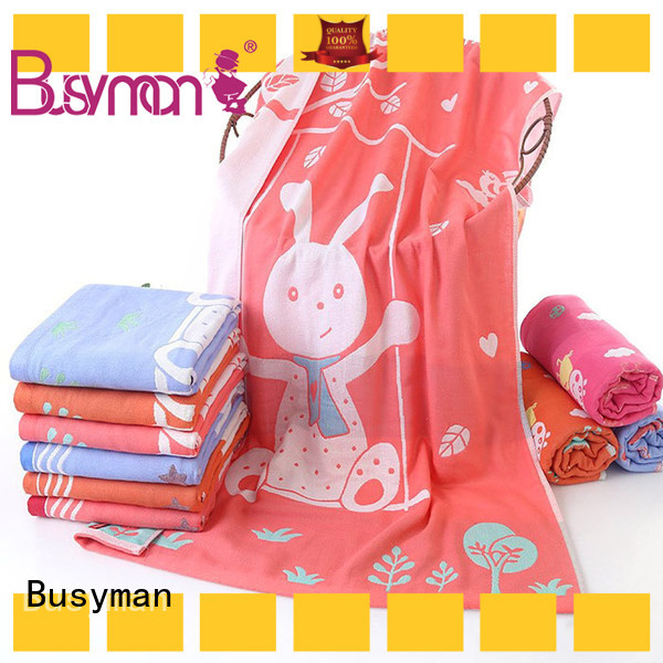 Busyman multi color jacquard personalized towels optimal for hotel