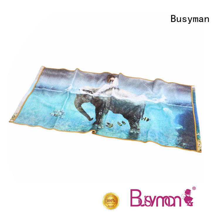 Busyman comfortable custom printed hand towels ideal for kids use