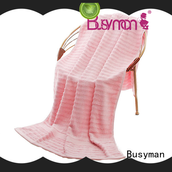 Busyman comfortable bamboo beach towel needed for gift