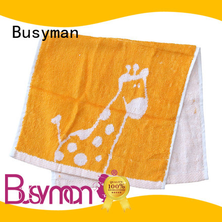 Busyman jacquard hand towel widely employed for gift