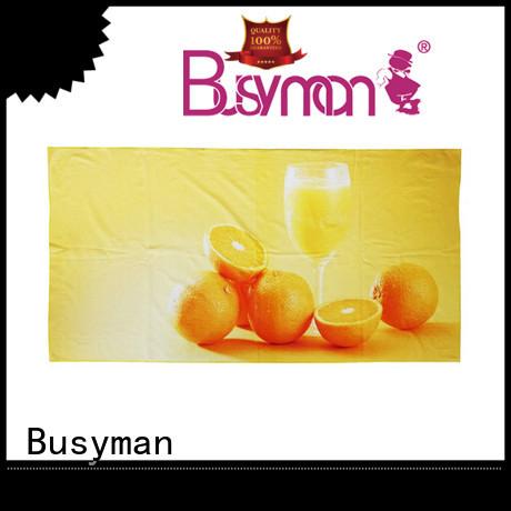 Busyman beach towel custom print spa