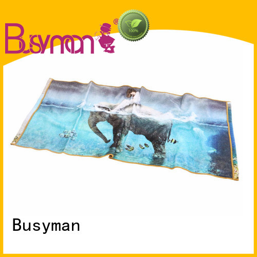 Busyman custom printed hand towels perfect for kids use