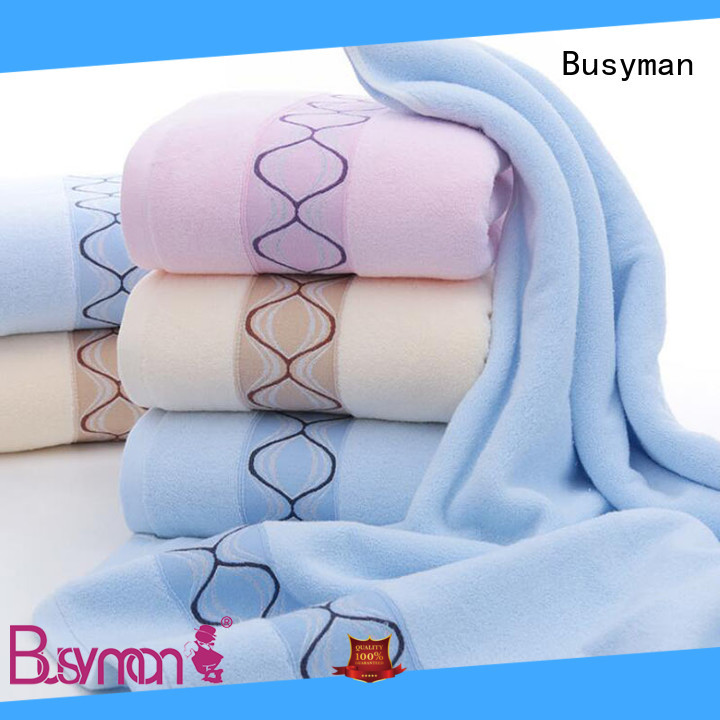 Busyman towel manufacturer nice user experience for Baby washing face or hands