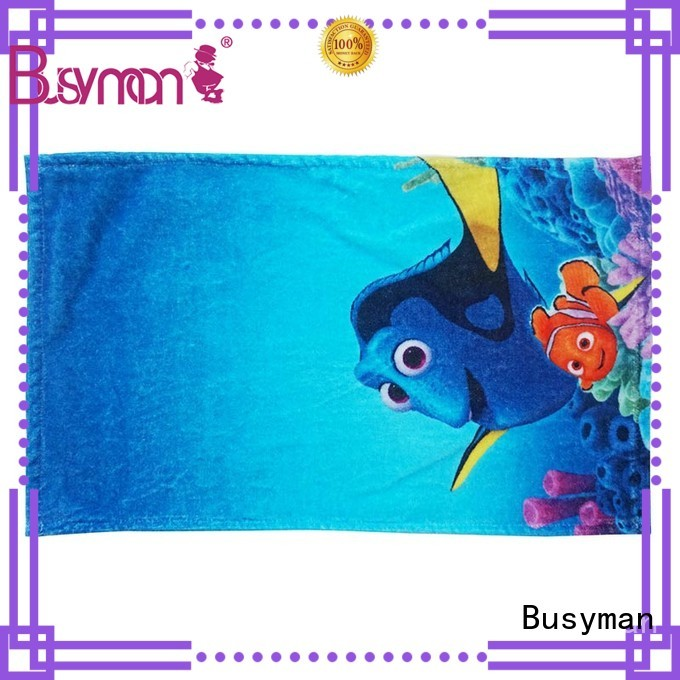 Busyman hand towel printing ideal for