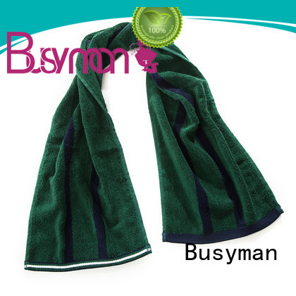 Busyman bamboo sports towel widely applied for campaign