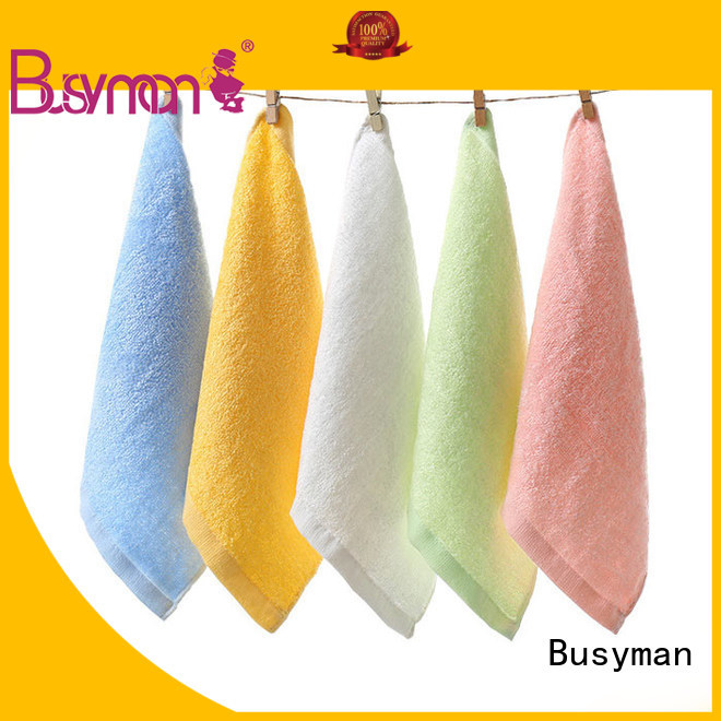 Busyman economical bamboo hand towel great for kids