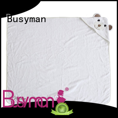 Busyman bamboo hooded towel hotel