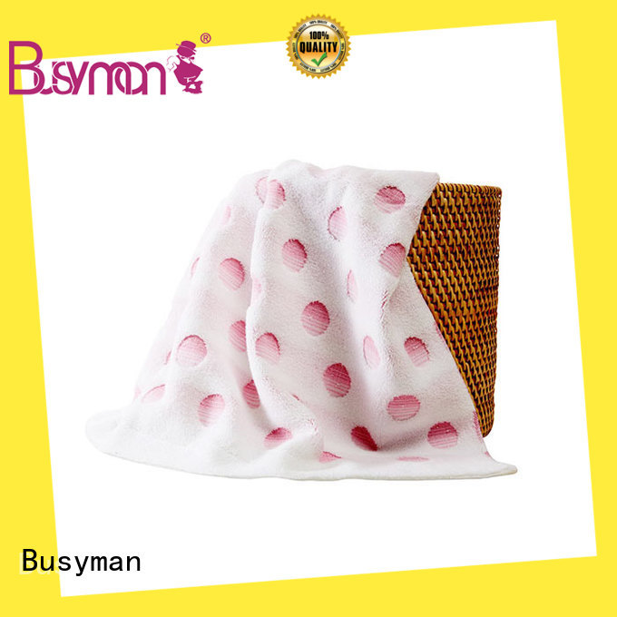 Busyman jacquard towels satisfying for sports