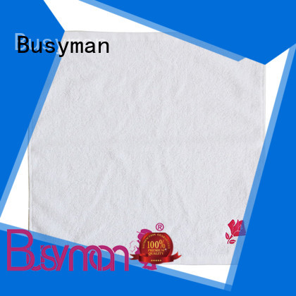 Busyman soft plain hand towel widely applied for