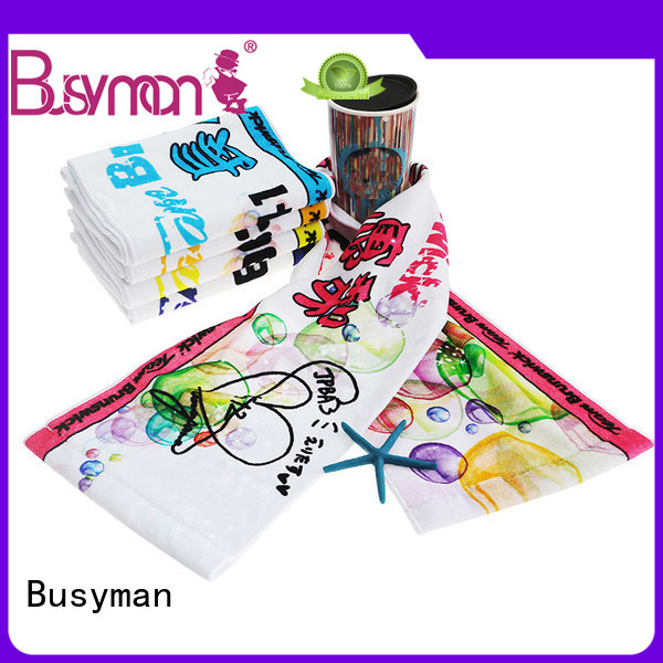 Busyman colorful cotton sports towel perfect for souvenir