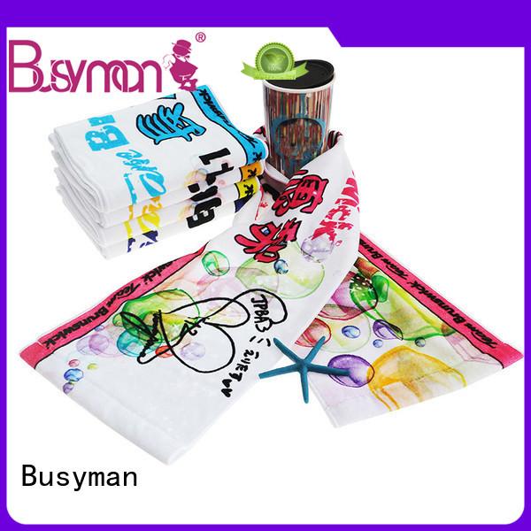 Busyman colorful cotton sports towel perfect for souvenir