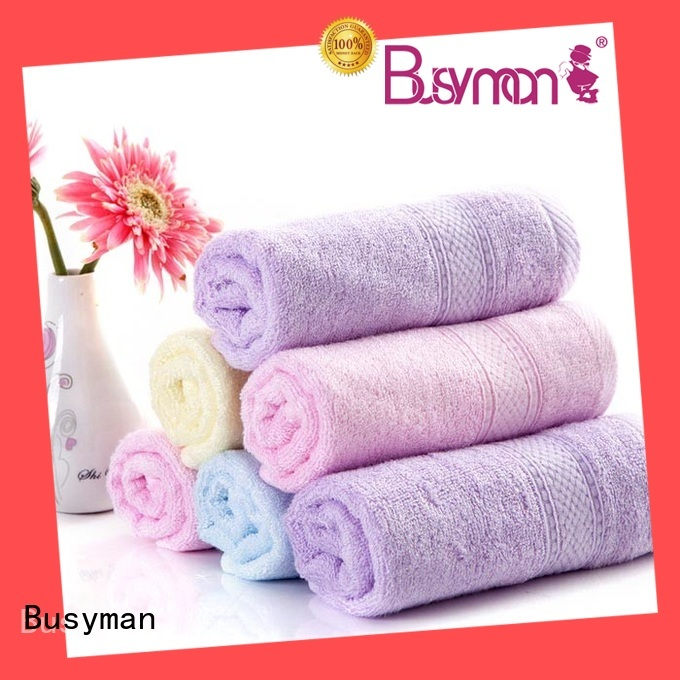 Busyman soft personalised beach towels