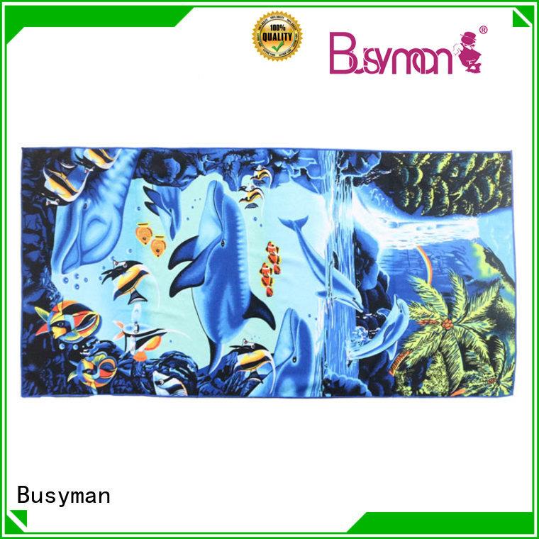 Busyman water absorptive best microfiber bath towels outdoor activities