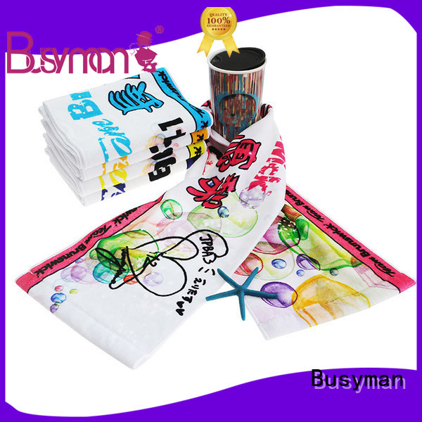 Busyman custom sport towel great for wedding